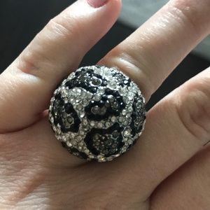 Domed animal print ring